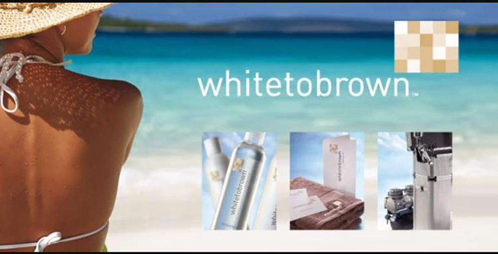 white to brown tanning